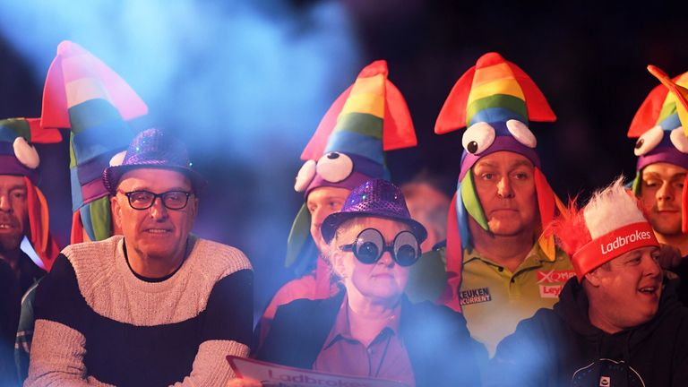 The fans were out in force and added to the colourful spectacle