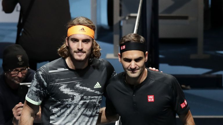 Tsitsipas followed Thiem in beating Roger Federer at the ATP Finals this week