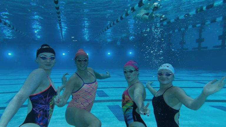 Freya (left) and her GB team-mates are getting fired up for the Tokyo Olympics