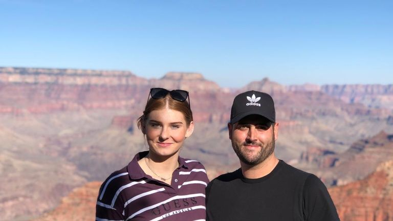 The Grand Canyon makes a sweet back-drop for Freya and coach Alan Bircher