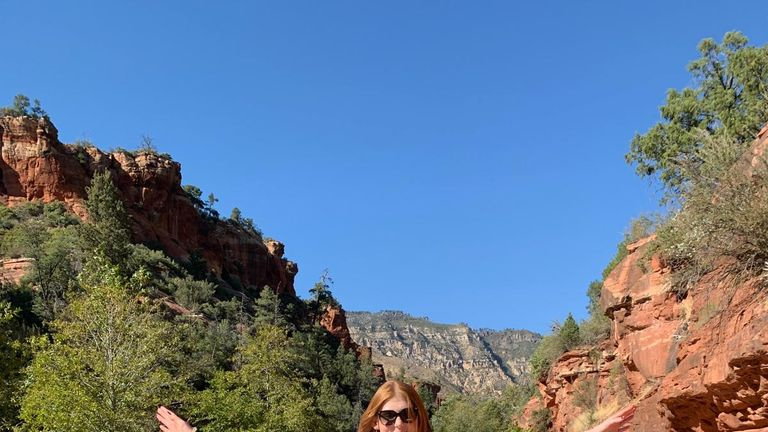 Freya Anderson soaks up the Arizona countryside on a rare day off
