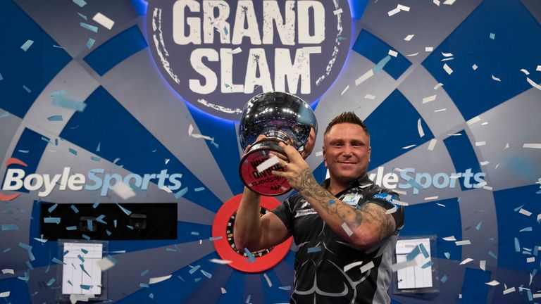 Gerwyn Price takes aim at a third consecutive Grand Slam of Darts title in November, but the tournament, and three more, will now take place at the Ricoh Arena