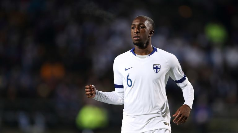 Kamara played in every game of Finland's successful Euro 2020 qualifying campaign