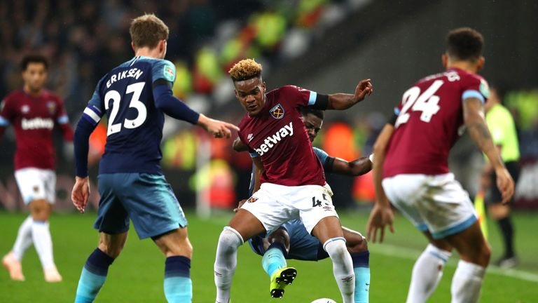 Diangana made 22 appearances for West Ham in all competitions last season