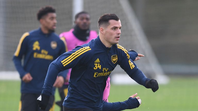 Granit Xhaka has not travelled as part of Arsenal's 18-man squad