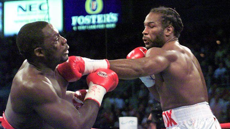 Lennox Lewis knocked out Hasim Rahman to regain world heavyweight titles