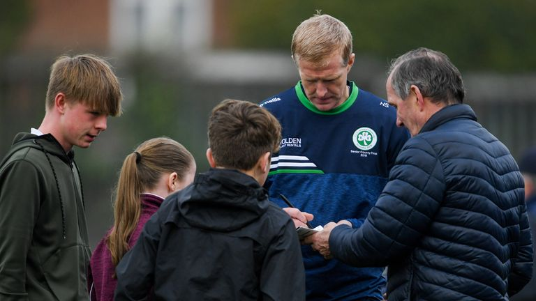 Still the main attraction! Ballyhale manager Henry Shefflin signs autographs after his side's win over Clonkill