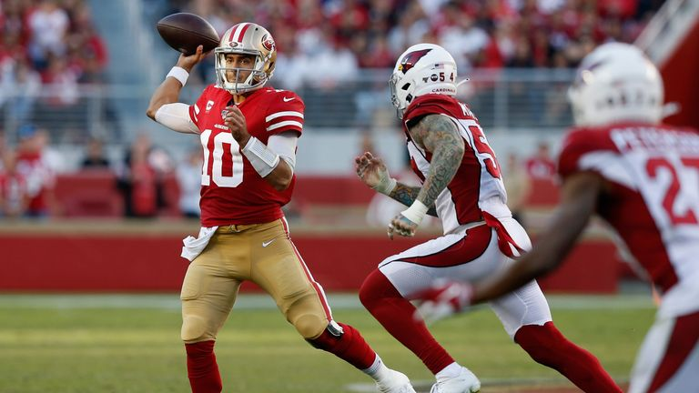 The San Francisco 49ers came out on top against the Arizona Cardinals despite quarterback Jimmy Garoppolo being without his main offensive weapons