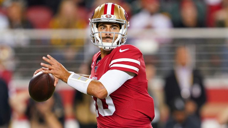San Francisco 49ers quarterback Jimmy Garoppolo had an impressive outing last week against the Packers