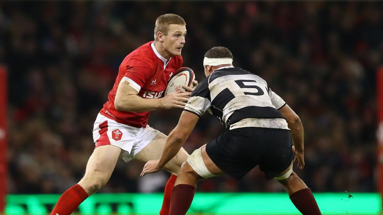 Johnny McNicholl in action for Wales
