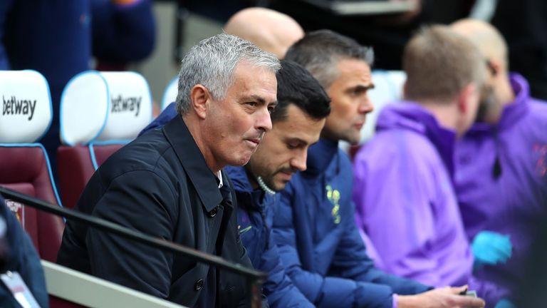 Joao Sacramento sat alongside Jose Mourinho at the London Stadium