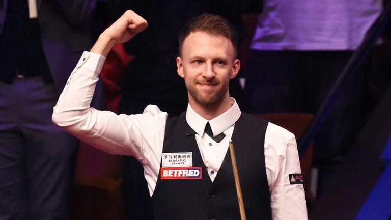 Judd Trump makes a 147 clearance at the Northern Ireland Open