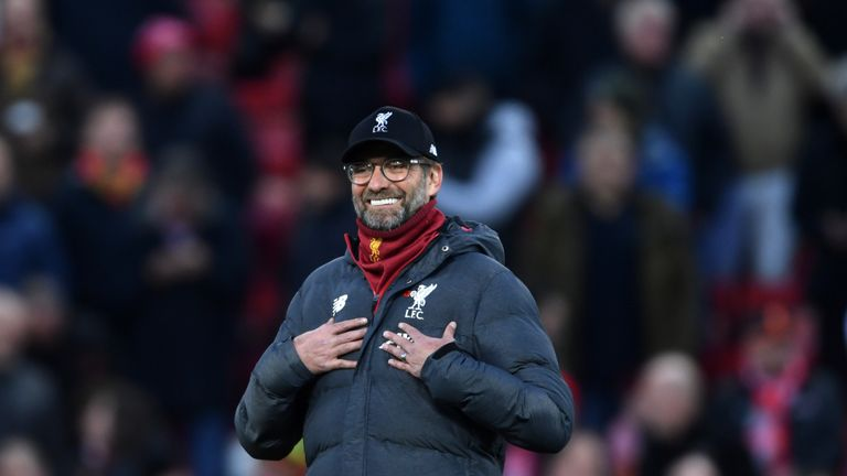 Klopp's side are eight points clear at the top of the Premier League table