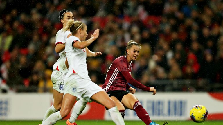 Germany's Klara Buhl scored late in the second-half to give her team a 2-1 lead