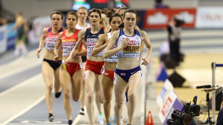 Laura Muir will attempt to break the 1000m world indoor record in Glasgow in February