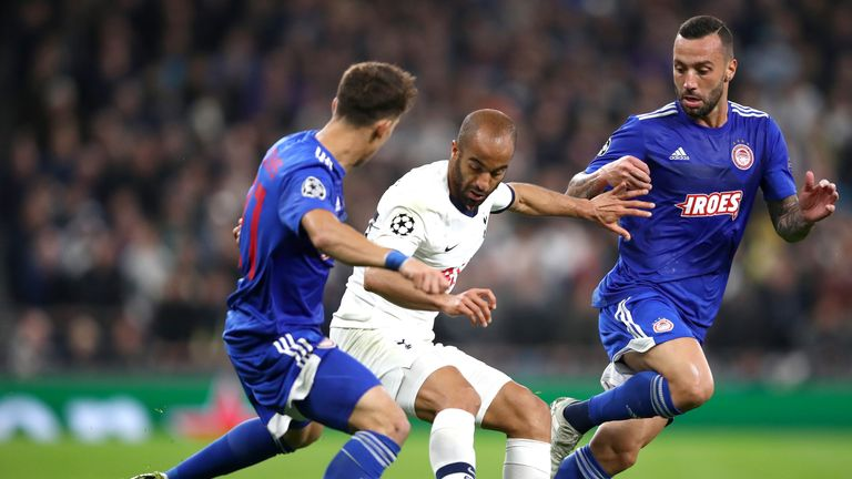 Moura played a key part in the 4-2 win over Olympiacos