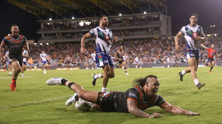 Fonua played for Wests Tigers in NRL last season