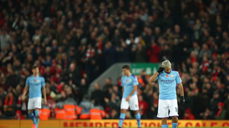 Defeat leaves City nine points behind league leaders Liverpool