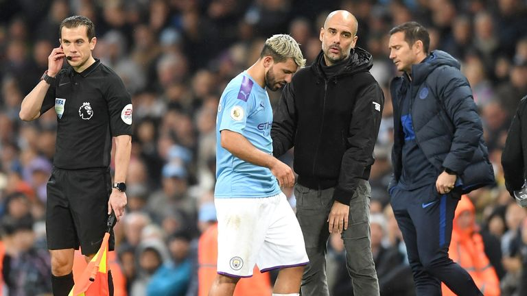 Sergio Aguero will again be unavailable for Sunday's trip to Arsenal