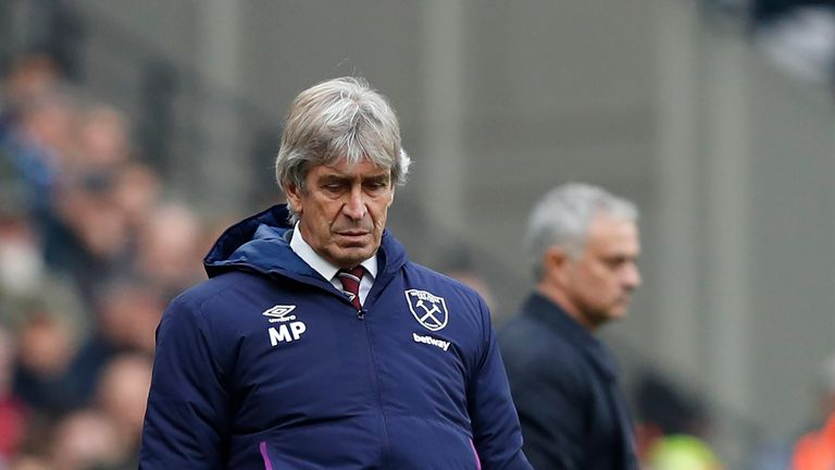Manuel Pellegrini is under pressure after a dismal run of results at West Ham