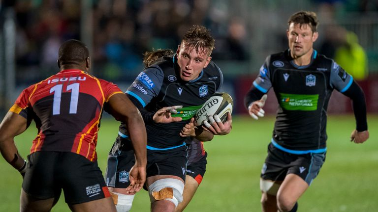 Glasgow Warrior's Matt Fagerson comes up against Southern Kings' Sibusiso Sithole