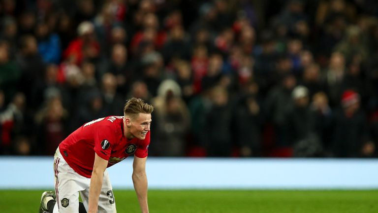 Scott McTominay limped off late on with an ankle injury