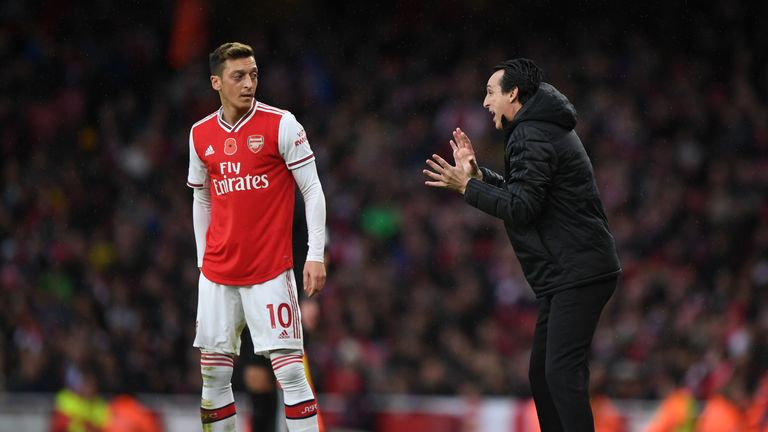 Emery recalled Mesut Ozil for the draw against Wolves