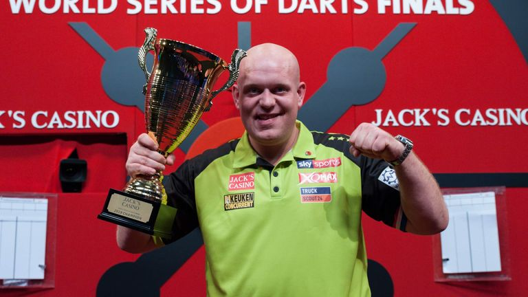 Michael van Gerwen regained the World Series of Darts Finals title in Amsterdam