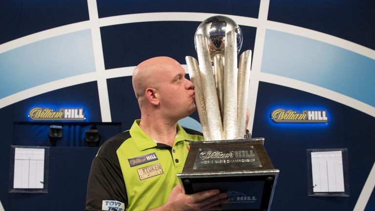 MVG is chasing a fourth crown after winning at Ally Pally last year