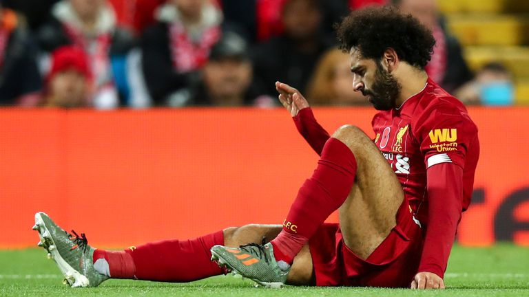 Salah was substituted late in the second-half against Manchester City on Sunday