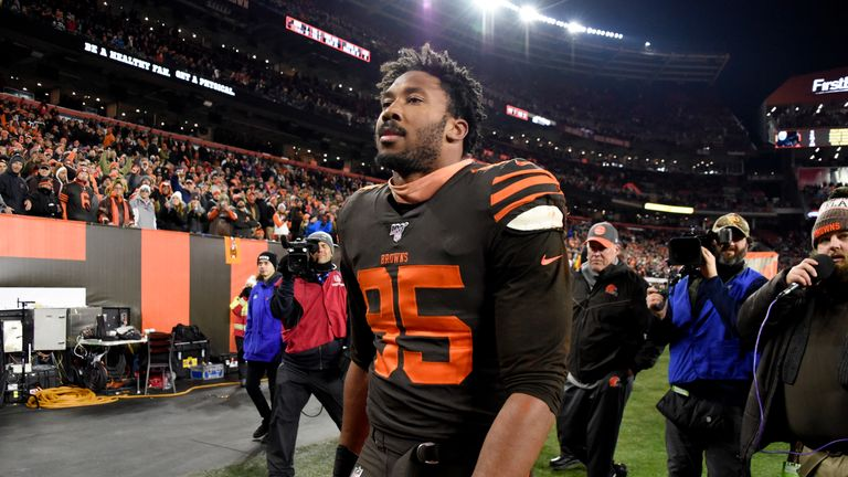 Myles Garrett was reinstated in February after being suspended indefinitely by the NFL in November 2019