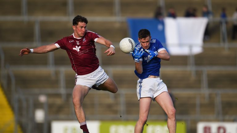 Ciaran Thompson of Naomh Conaill in action against Oisin Kiernan of Castlerahan