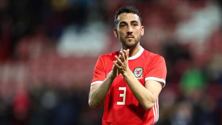 Neil Taylor will miss Wales' games against Azerbaijan and Hungary