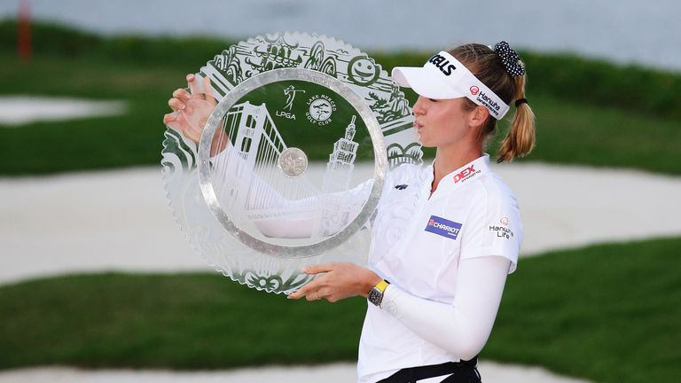Nelly Korda won a play-off to successfully defend her title in Taiwan