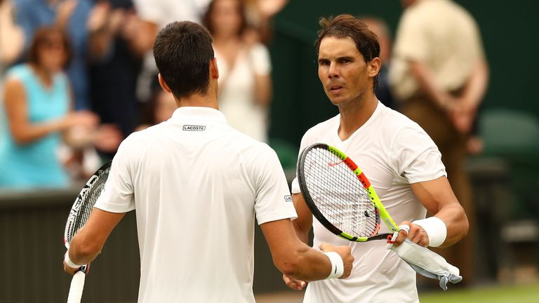 Djokovic and Nadal were meeting for a 52nd time and had not faced each other at such a stage of a Grand Slam since the 2014 French Open final