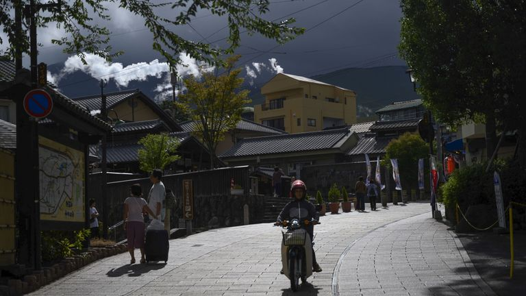 Outside of Tokyo, the quiet, narrow streets of Oita could not be more different