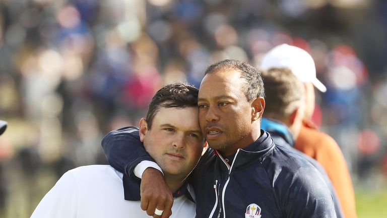 Tiger Woods led the US support for Patrick Reed