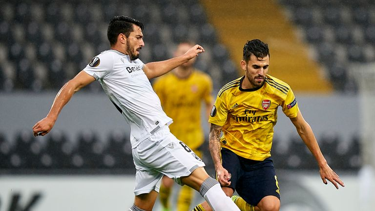 Vitoria hit back late on to secure a draw against Arsenal in Wednesday's Europa League encounter