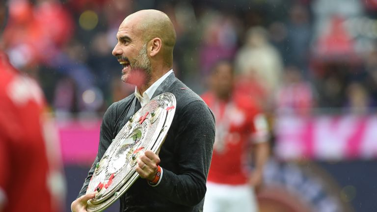 Guardiola has won league titles in Spain, Germany and England