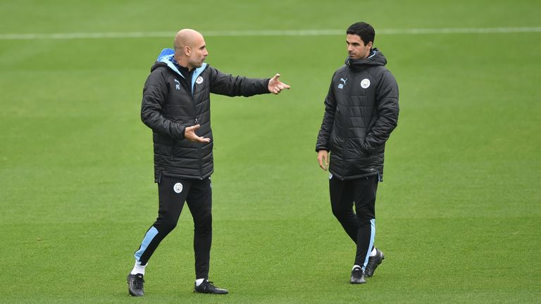 Guardiola has made it clear no offers have been made for Arteta