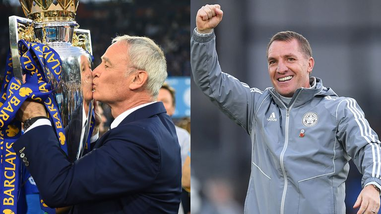 How do Claudio Ranieri and Brendan Rodgers' Leicester teams compare?