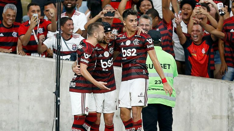 Reinier (right) has been attracting interest because of his performances for Flamengo