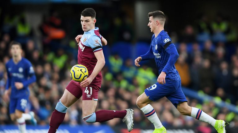 Declan Rice is close friends with Chelsea attacking midfielder Mason Mount