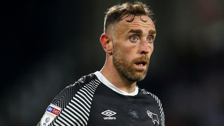 Richard Keogh's contract with Derby was terminated in October 2019