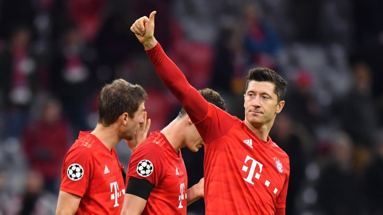 Robert Lewandowski continued his excellent form for Bayern Munich against Olympiakos