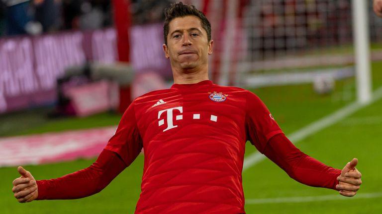 Robert Lewandowski scored twice in Bayern Munich's big win over Borussia Dortmund