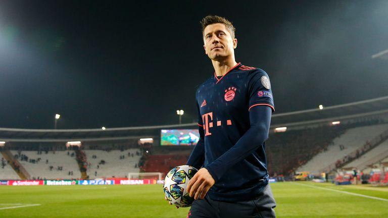 Robert Lewandowski with the matchball after another big haul for Bayern Munich