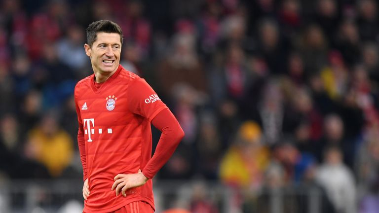 Robert Lewandowski could not help Bayern Munich to victory