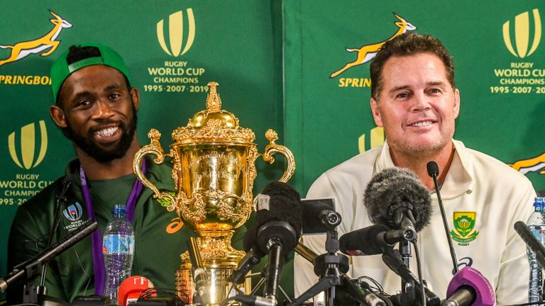 Siya Kolisi captained the Springboks to Rugby World Cup glory last year