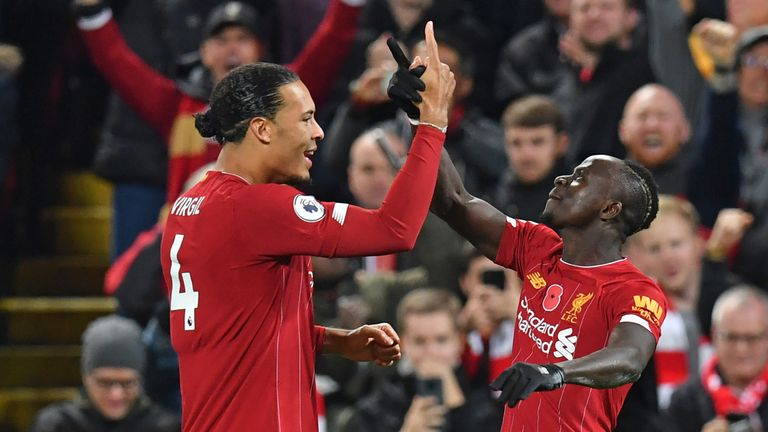 Sadio Mane scored Liverpool's third against title-rivals Manchester City